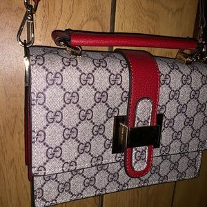 Red Gucci shoulder bag